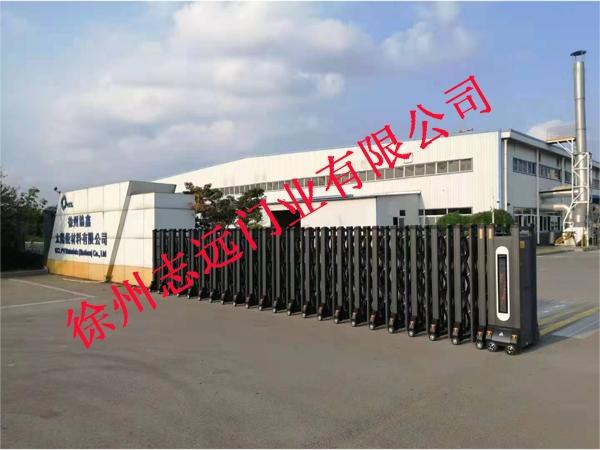 徐州协鑫太阳能材料有限公司选择徐州志远门业有限公司电动伸缩产品